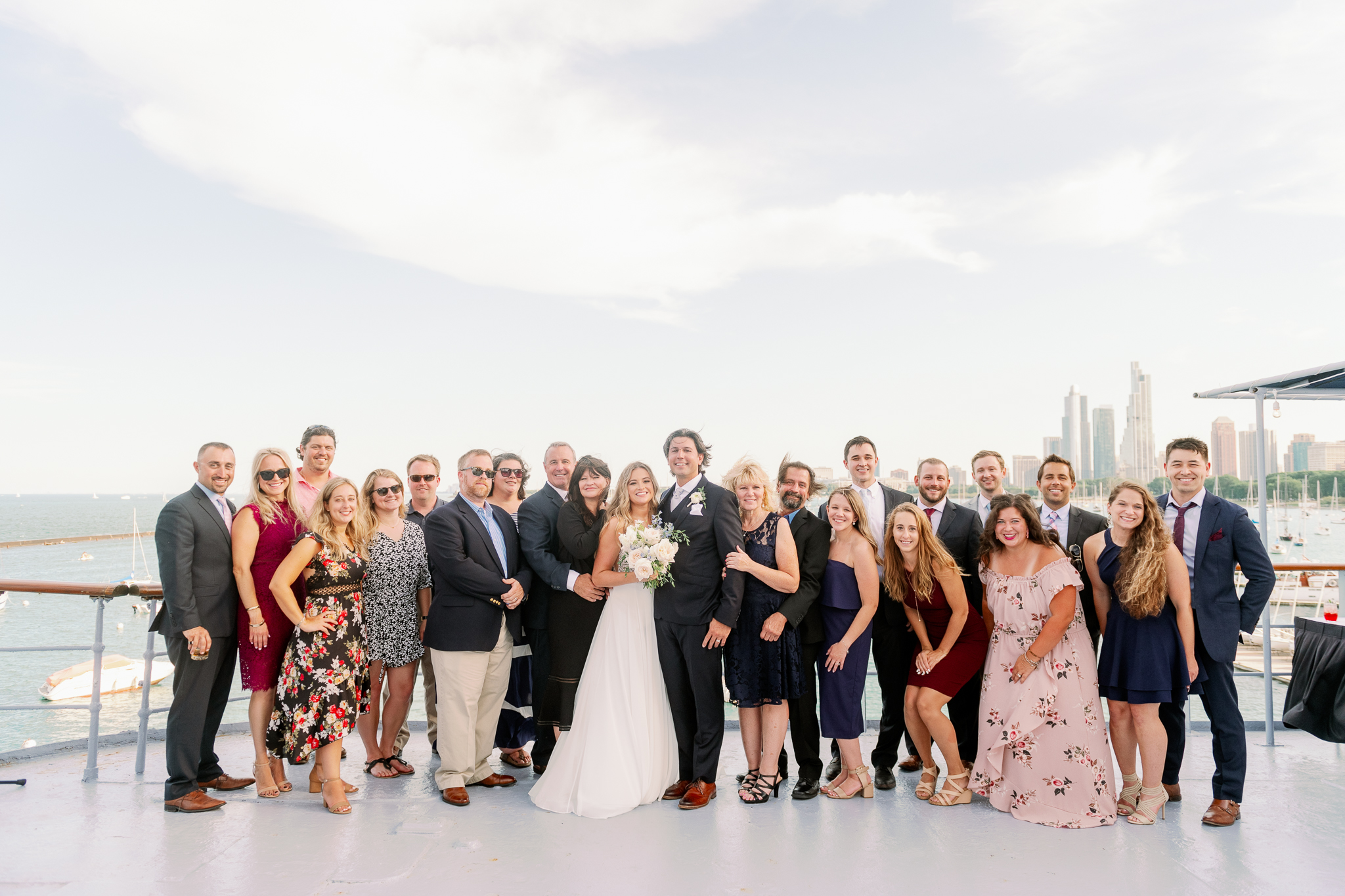 Intimate Chicago Wedding Elopement at Chicago Yacht Club-17