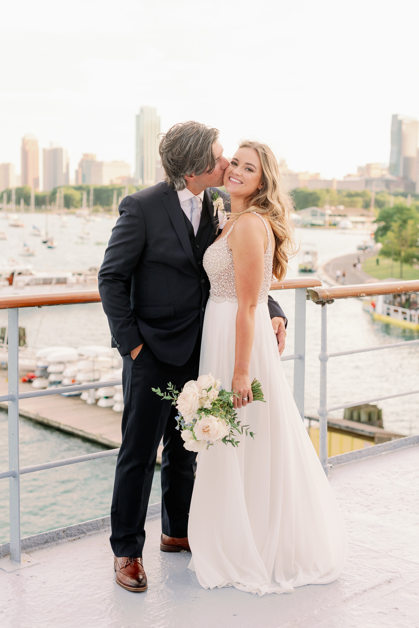 Intimate Chicago Wedding Elopement at Chicago Yacht Club-26