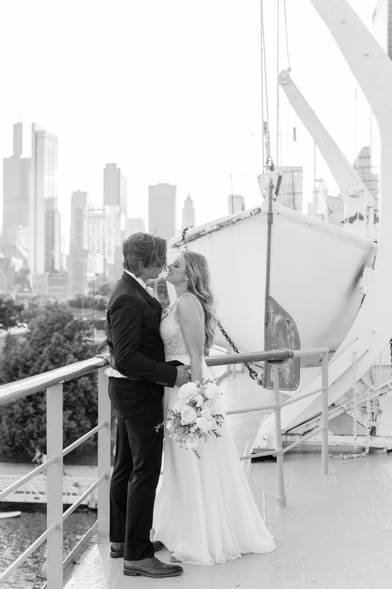 Intimate Chicago Wedding Elopement at Chicago Yacht Club-29