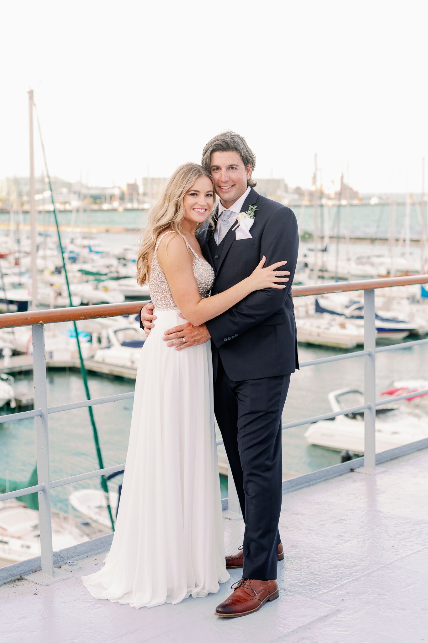 Intimate Chicago Wedding Elopement at Chicago Yacht Club-36