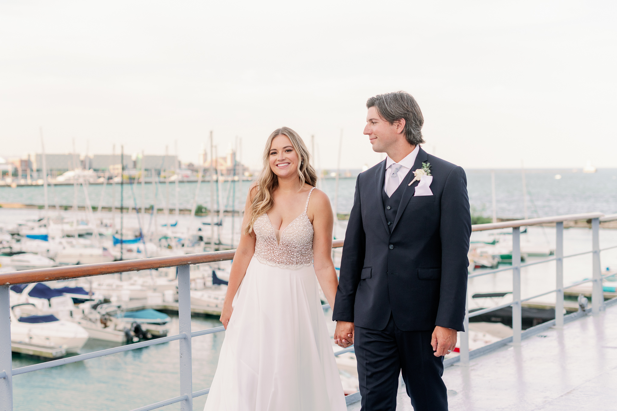 Intimate Chicago Wedding Elopement at Chicago Yacht Club-38
