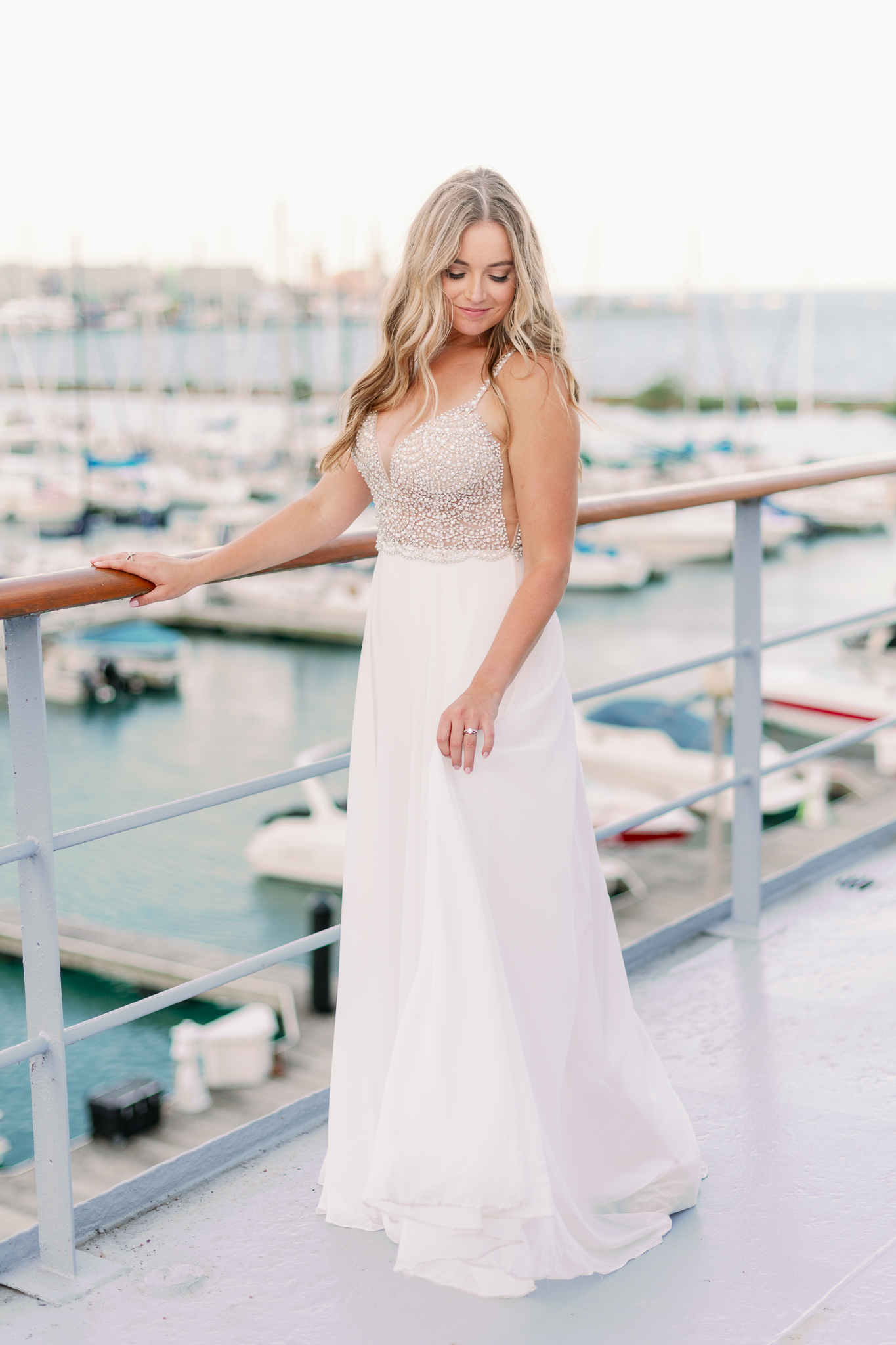 Intimate Chicago Wedding Elopement at Chicago Yacht Club-42