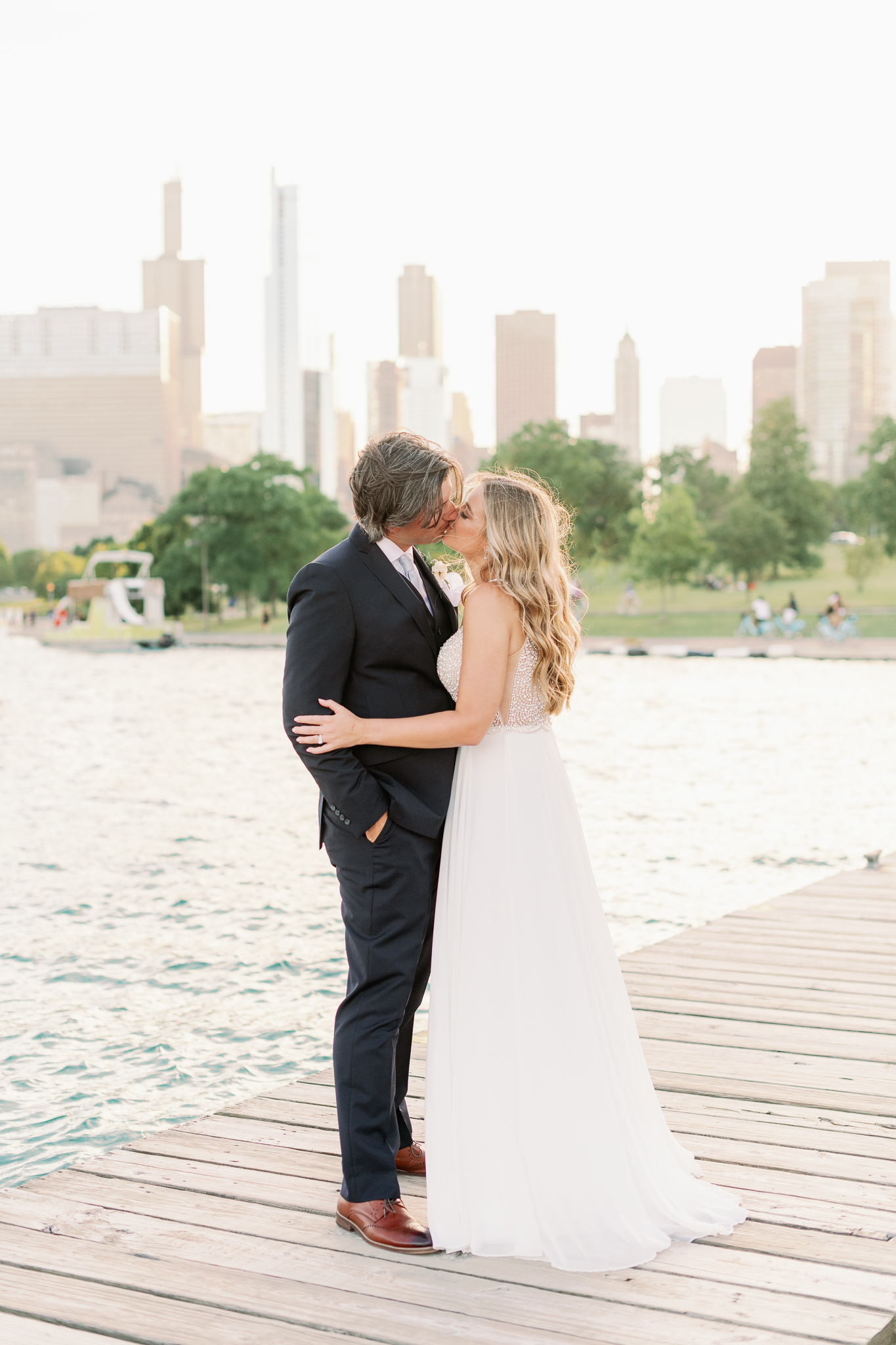 Intimate Chicago Wedding Elopement at Chicago Yacht Club-51