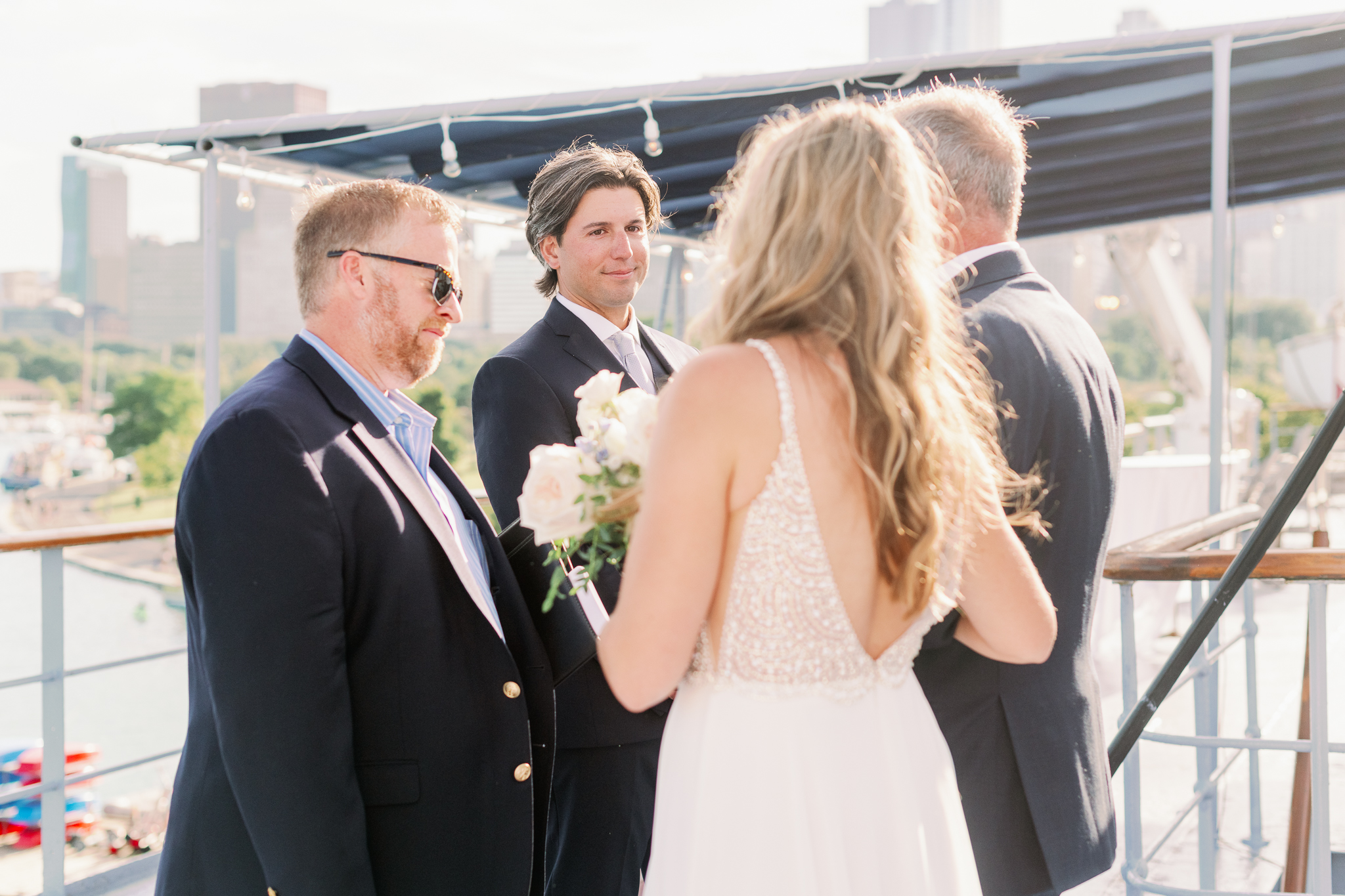 Intimate Chicago Wedding Elopement at Chicago Yacht Club-7