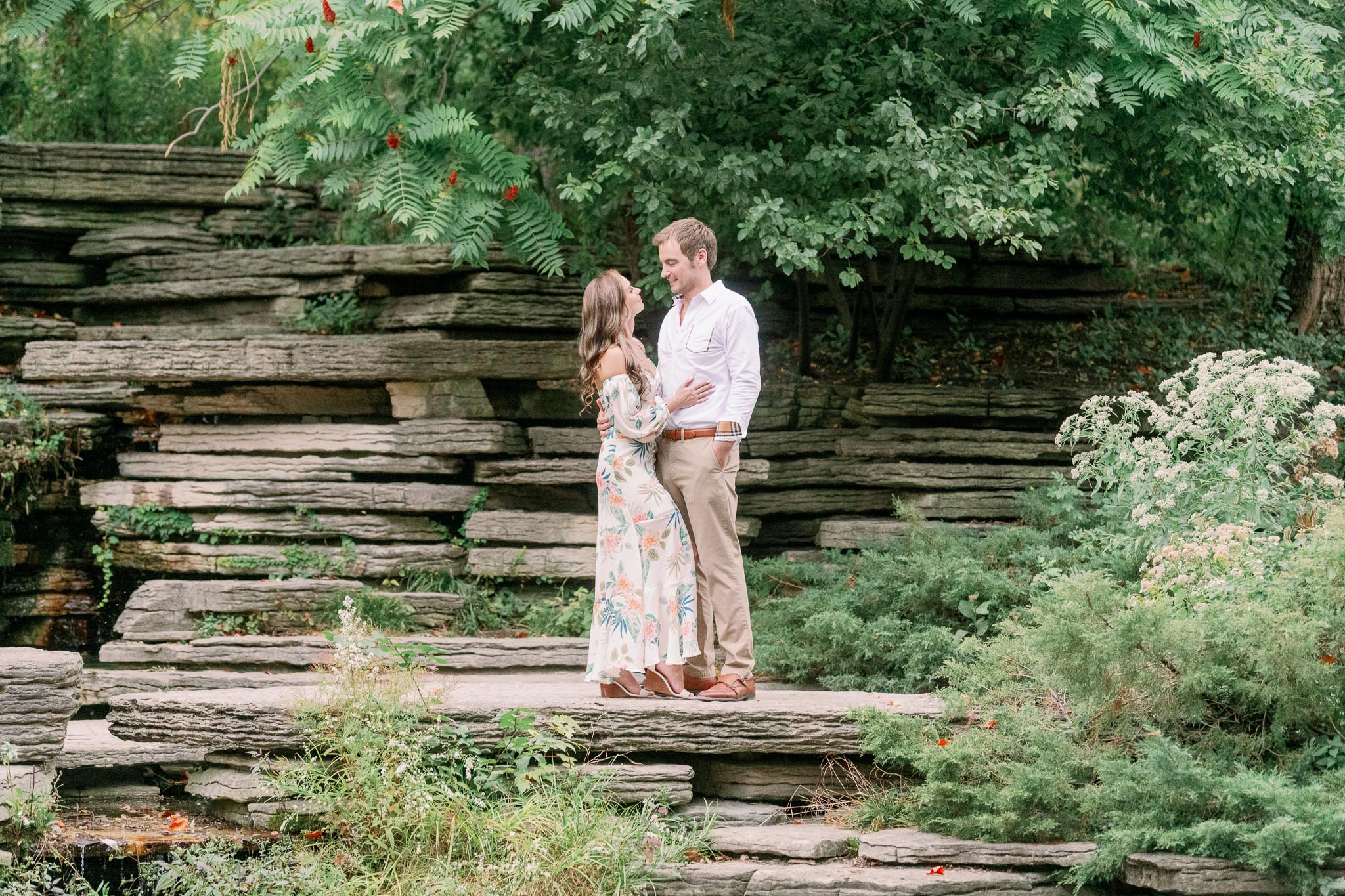 Chicago Engagement – Lincoln Park Alfred Caldwell Lily Pool Engagement Photos-38