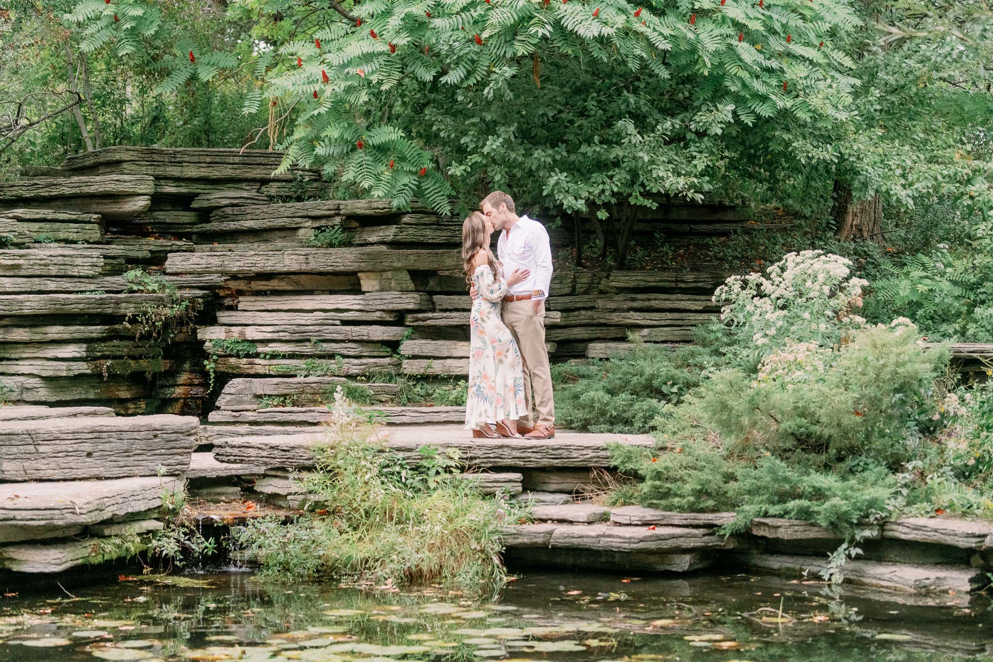 Chicago Engagement – Lincoln Park Alfred Caldwell Lily Pool Engagement Photos-39