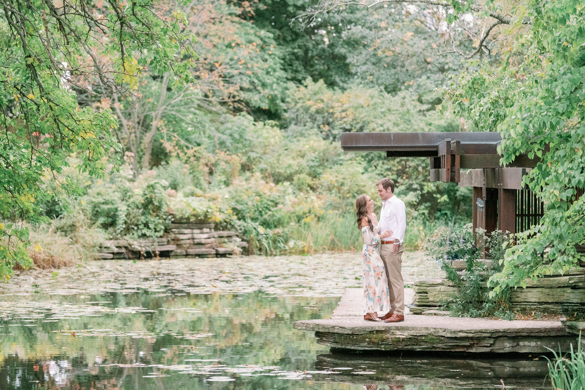 Chicago Engagement – Lincoln Park Alfred Caldwell Lily Pool Engagement Photos-45
