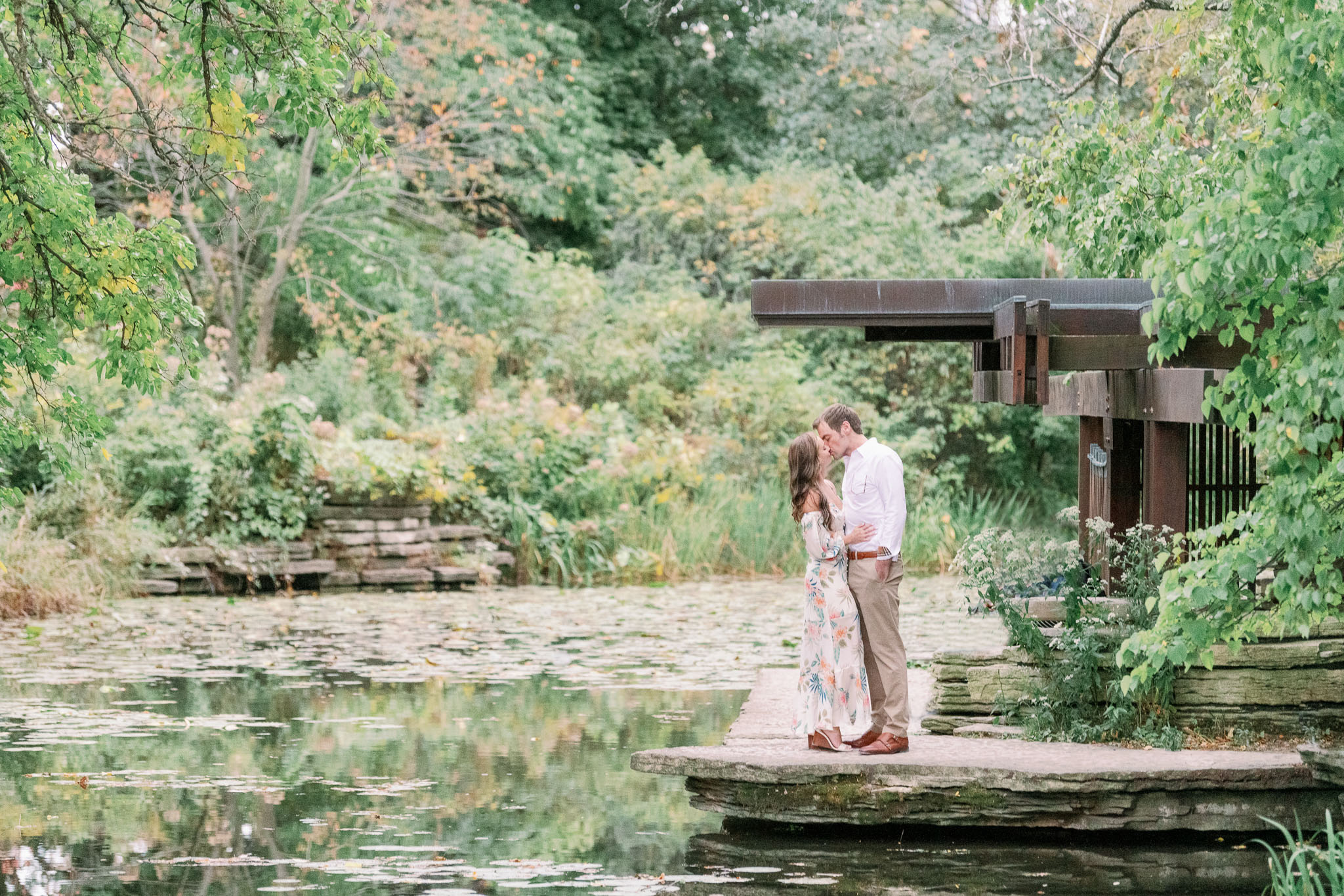 Chicago Engagement – Lincoln Park Alfred Caldwell Lily Pool Engagement Photos-46