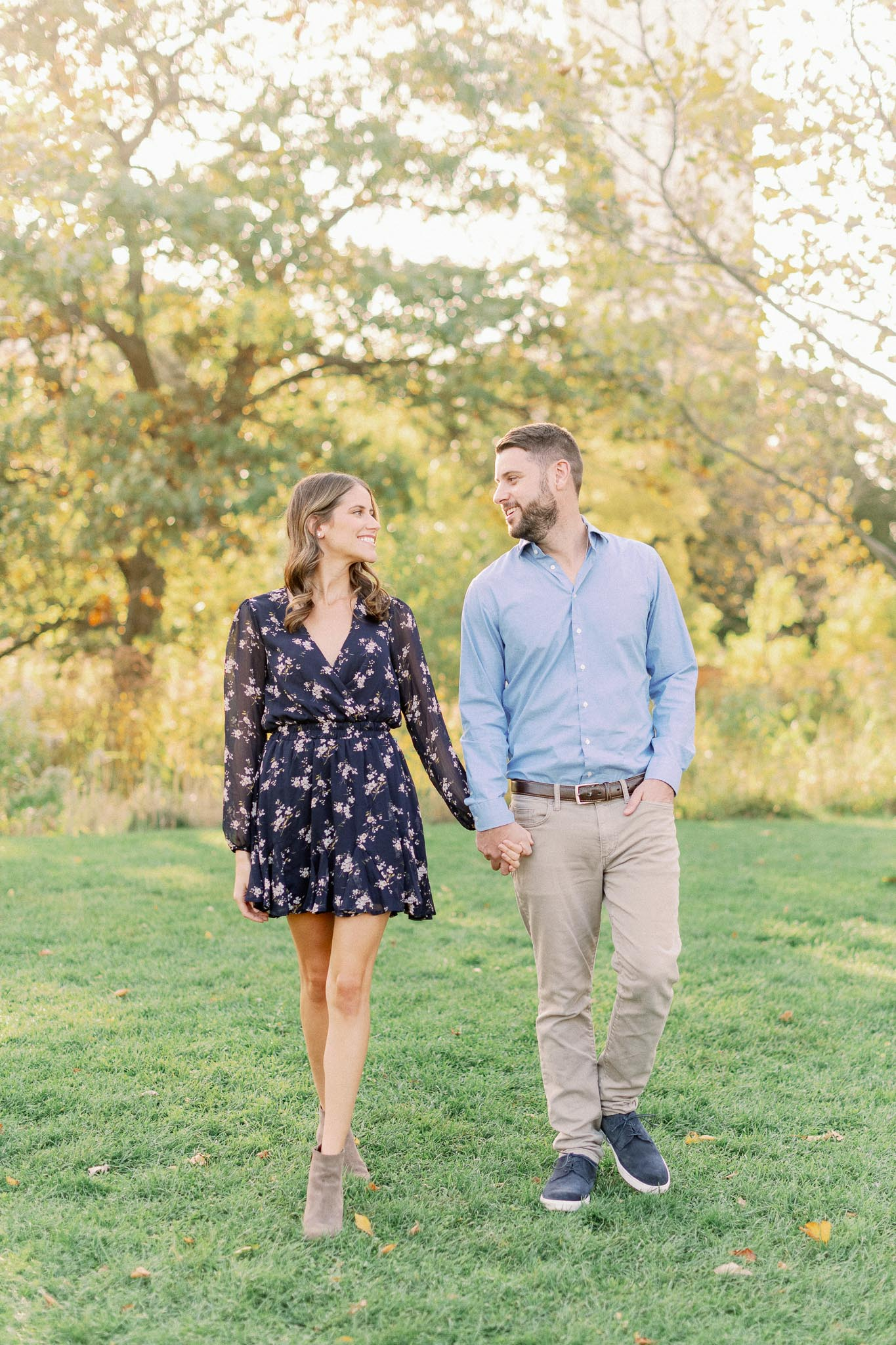 Chicago Fine Art Film Photographer – Lincoln Park Engagement Photos-13