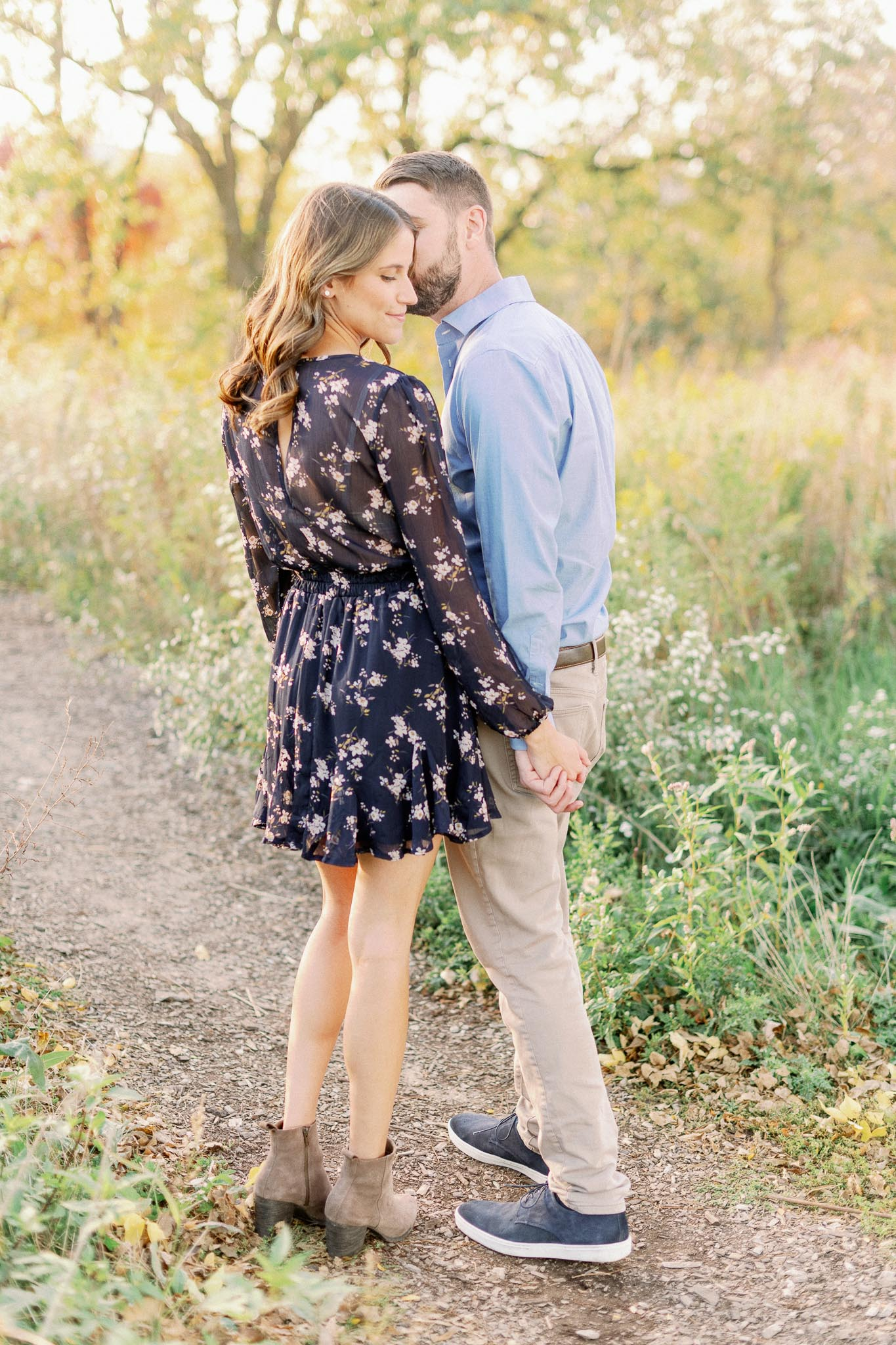 Chicago Fine Art Film Photographer – Lincoln Park Engagement Photos-21