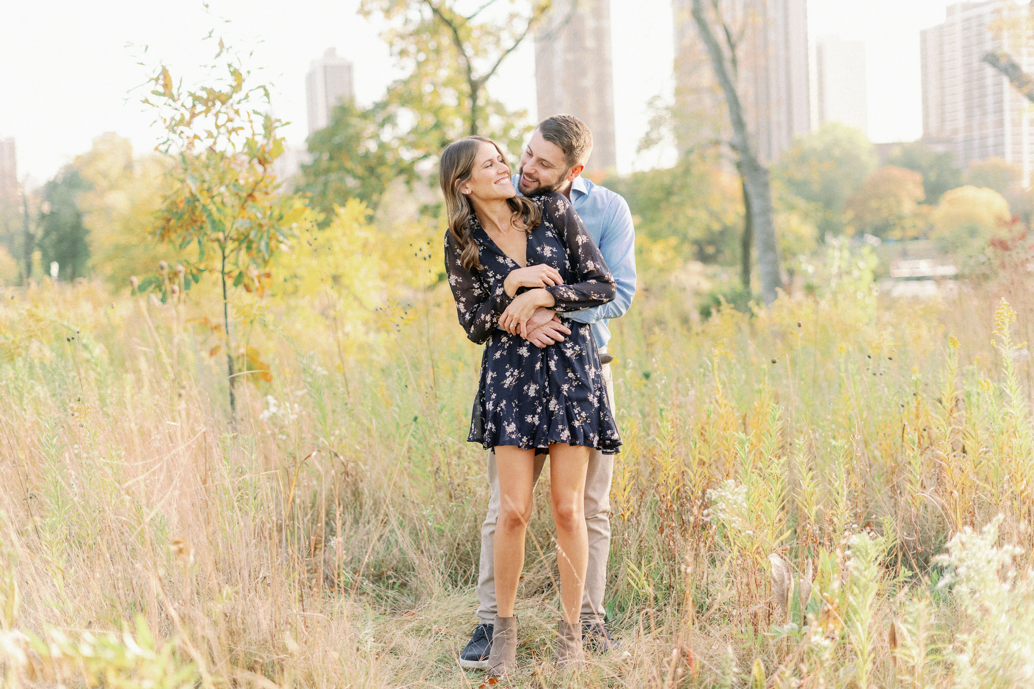 Chicago Fine Art Film Photographer – Lincoln Park Engagement Photos-26