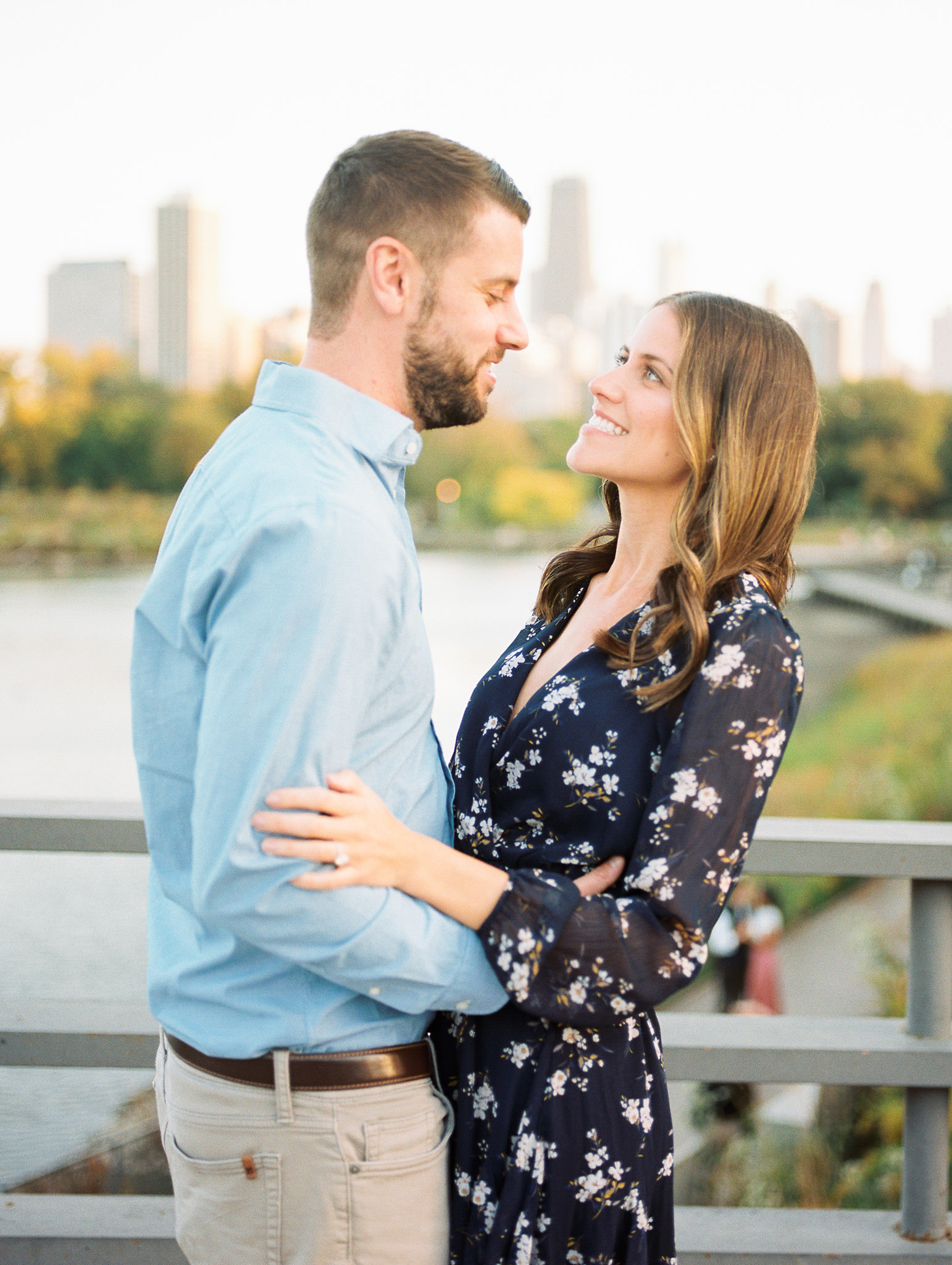 Chicago Fine Art Film Photographer – Lincoln Park Engagement Photos-51