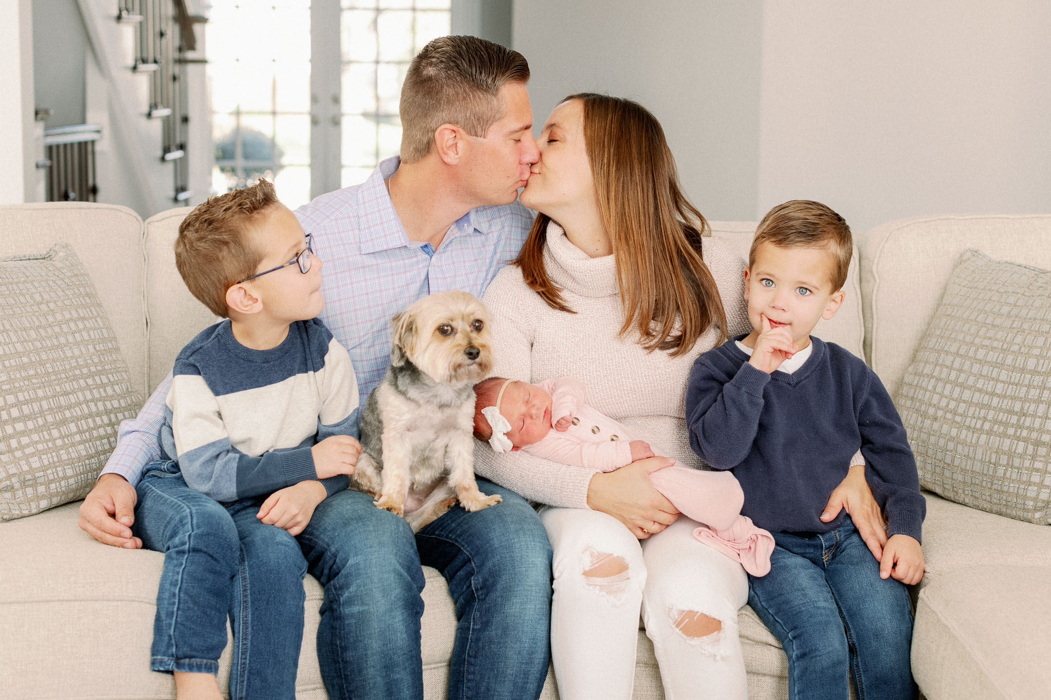Naperville In-Home Newborn Family Photos – Chicago + Naples Fine Art Newborn Family Photographer-10
