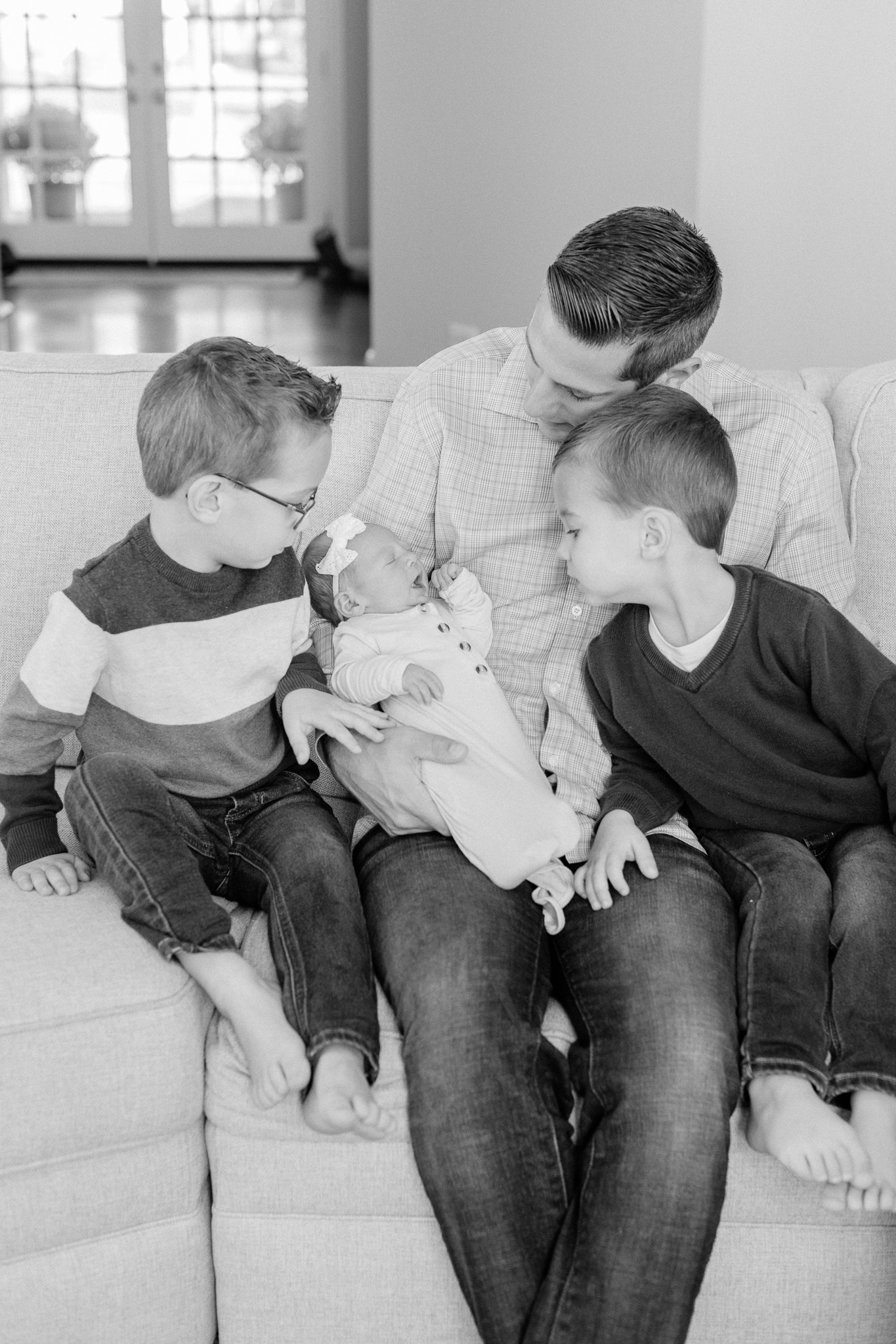 Naperville In-Home Newborn Family Photos – Chicago + Naples Fine Art Newborn Family Photographer-14