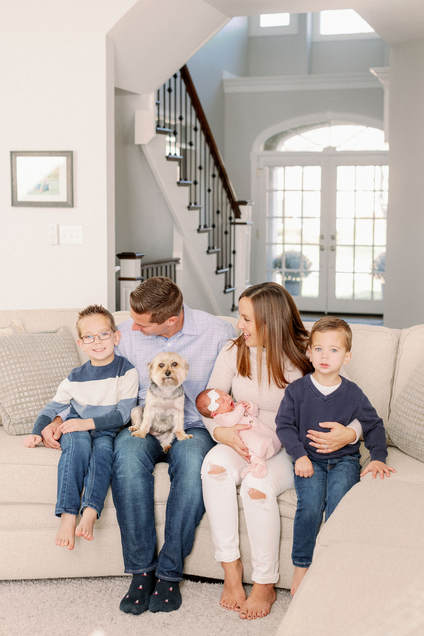 Naperville In-Home Newborn Family Photos – Chicago + Naples Fine Art Newborn Family Photographer-2