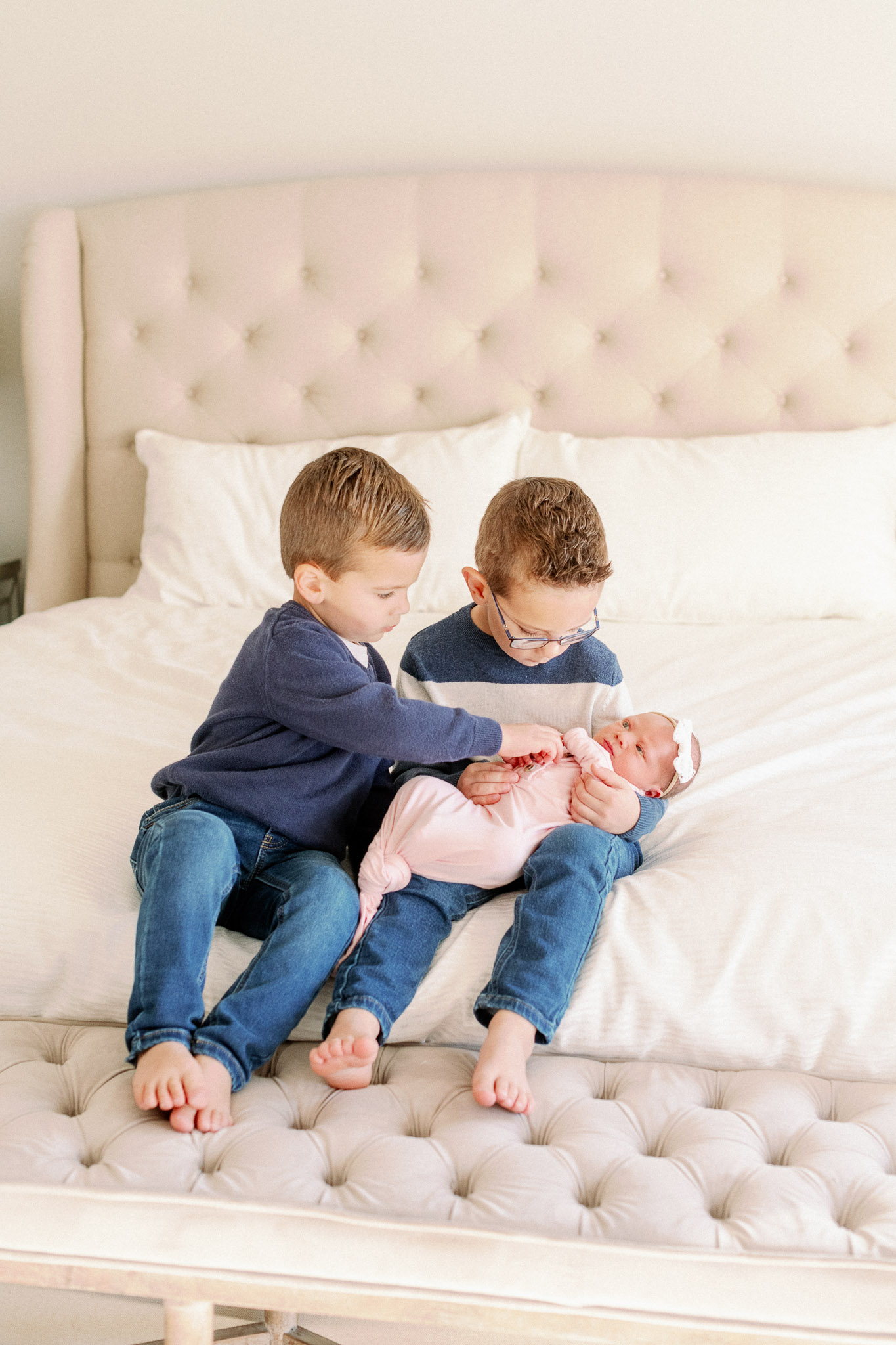 Naperville In-Home Newborn Family Photos – Chicago + Naples Fine Art Newborn Family Photographer-20