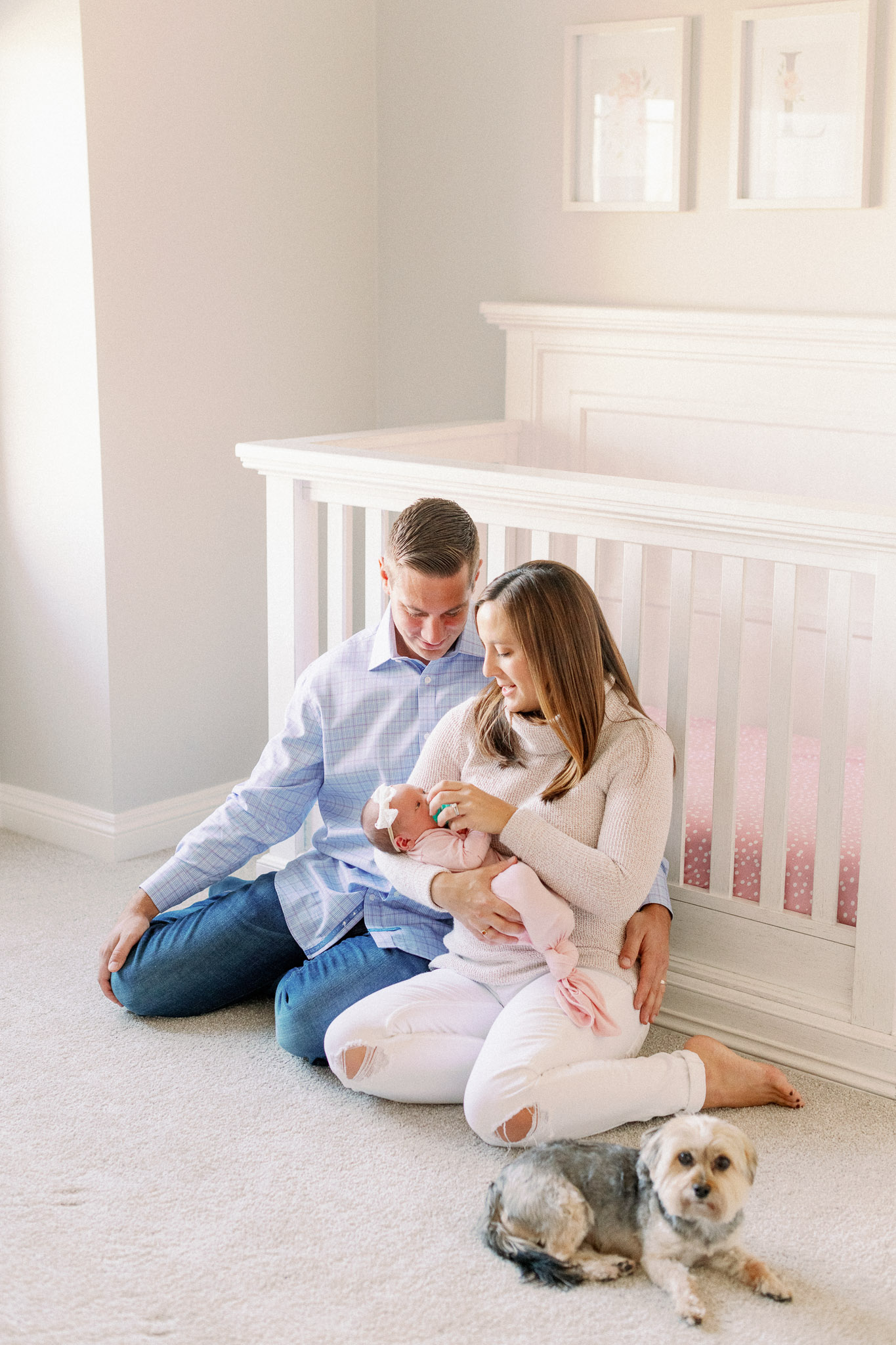Naperville In-Home Newborn Family Photos – Chicago + Naples Fine Art Newborn Family Photographer-33