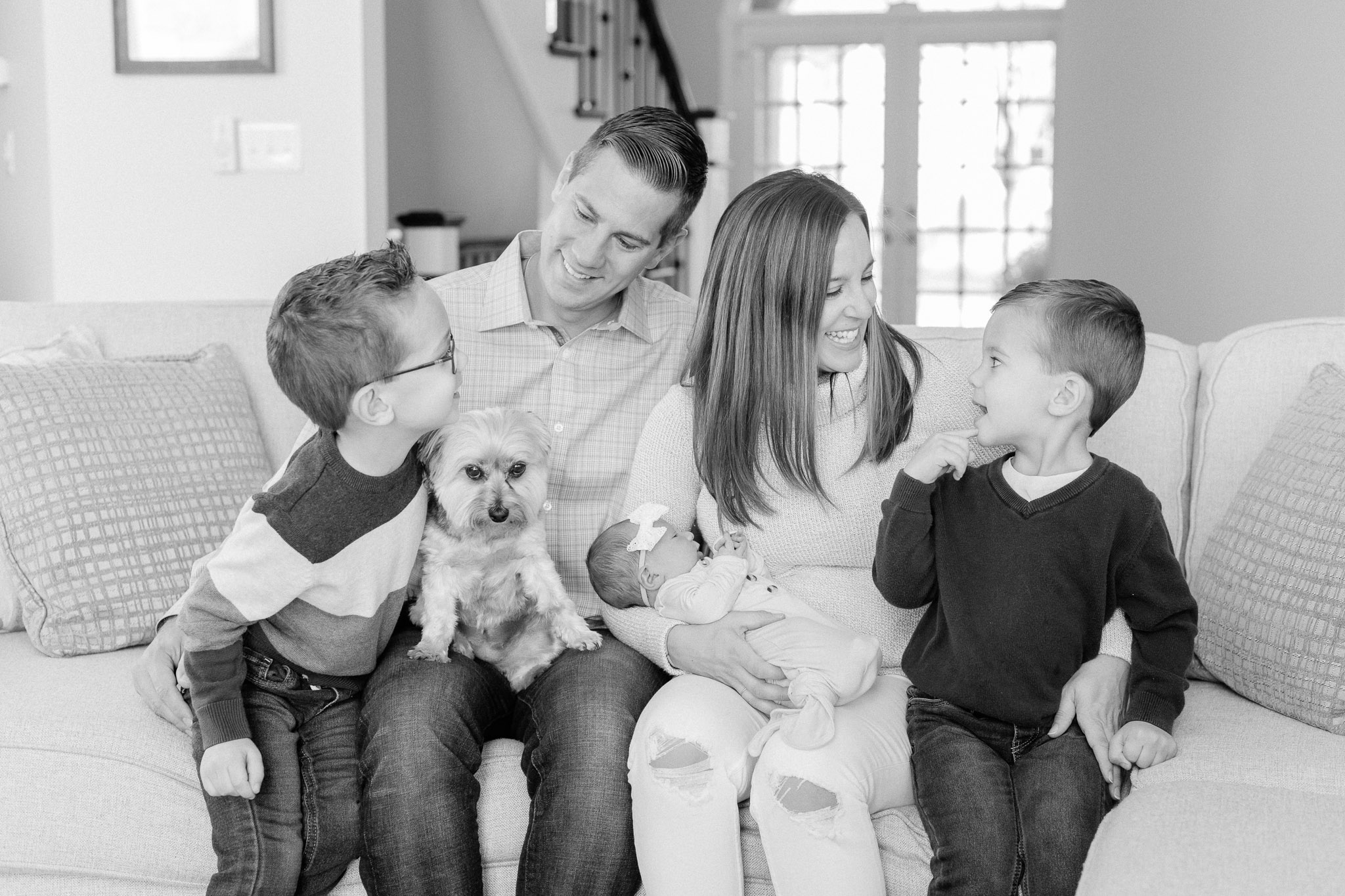 Naperville In-Home Newborn Family Photos – Chicago + Naples Fine Art Newborn Family Photographer-4