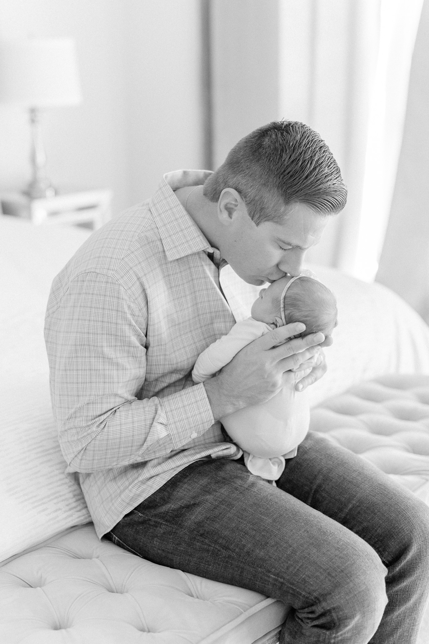 Naperville In-Home Newborn Family Photos – Chicago + Naples Fine Art Newborn Family Photographer-40