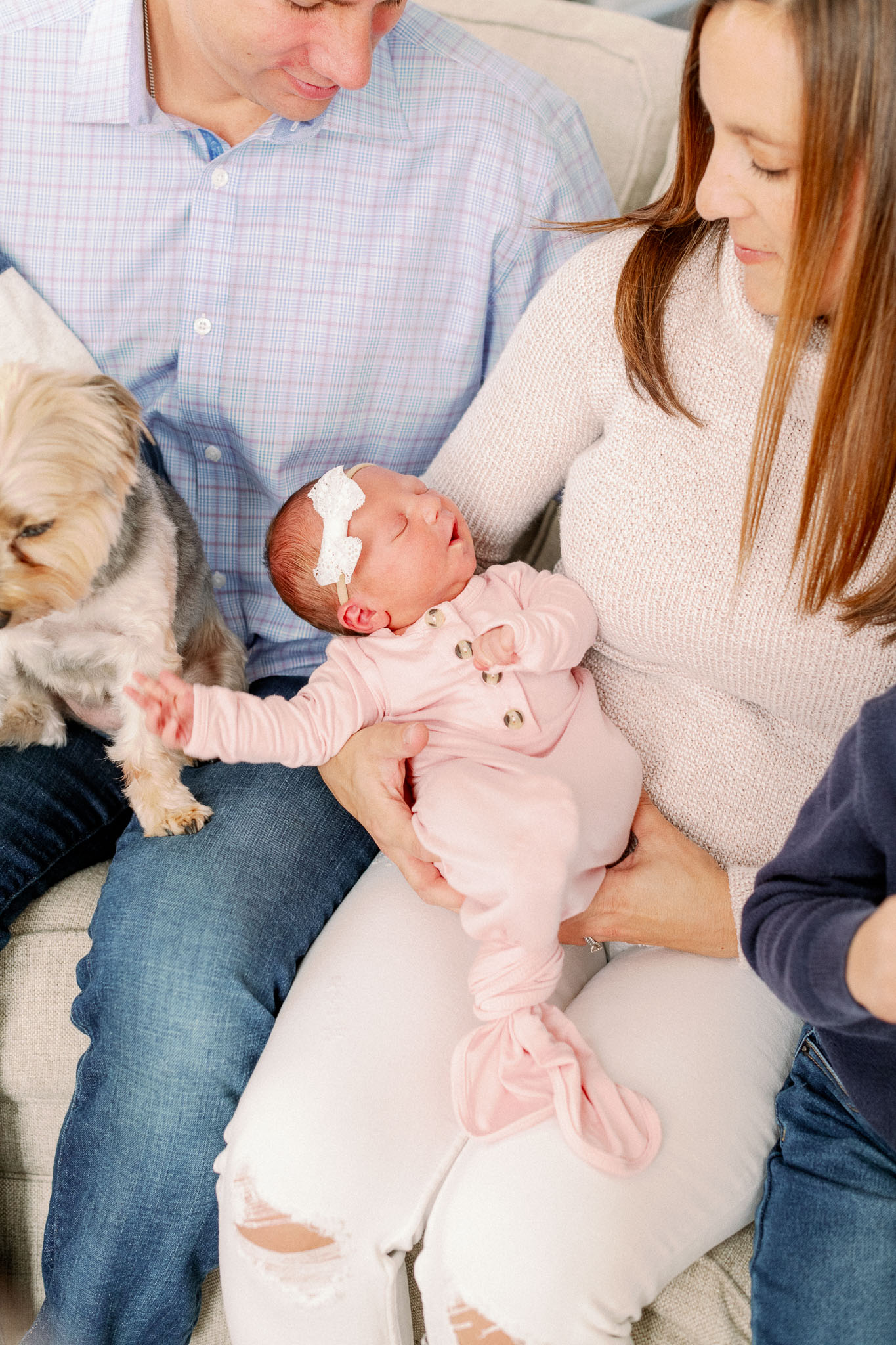 Naperville In-Home Newborn Family Photos – Chicago + Naples Fine Art Newborn Family Photographer-7