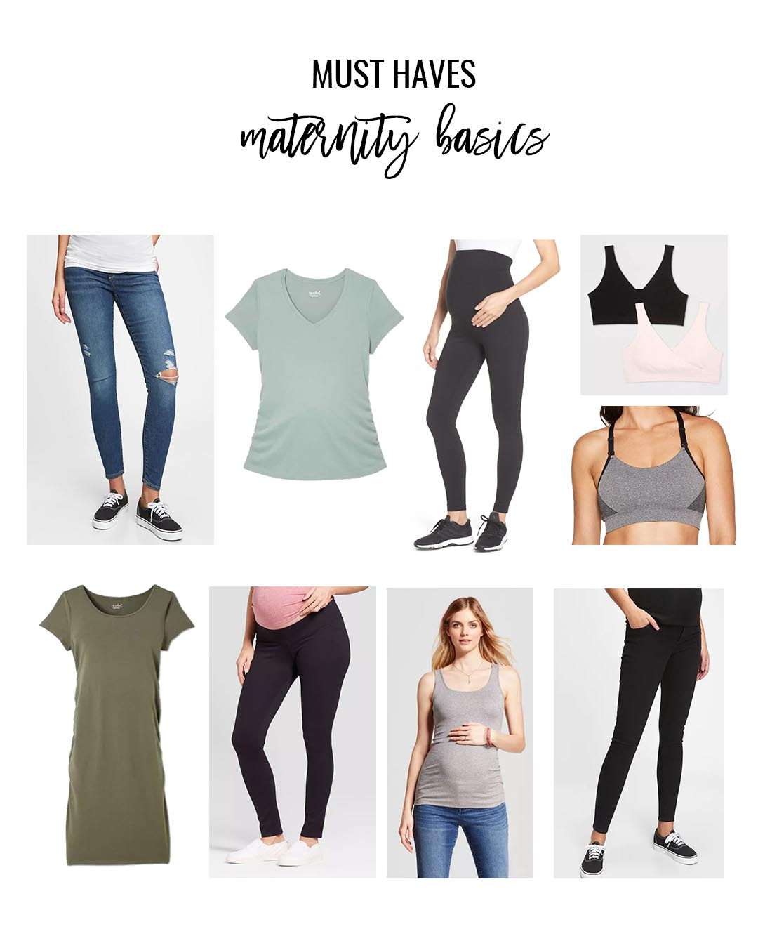 Maternity Must Haves Maternity Clothing Basics Essentials