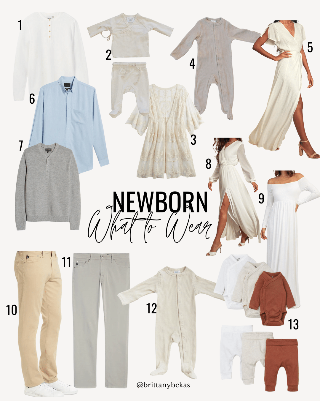what to wear in-home lifestyle newborn photos